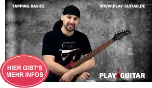 Online Gitarrenkurs für Fortgeschrittene: TAPPING BASICS